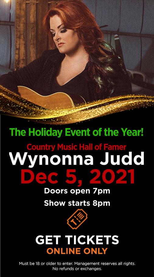 Wynonna - Dec 5, 2021 | Doors open 7pm, Show starts 8pm
