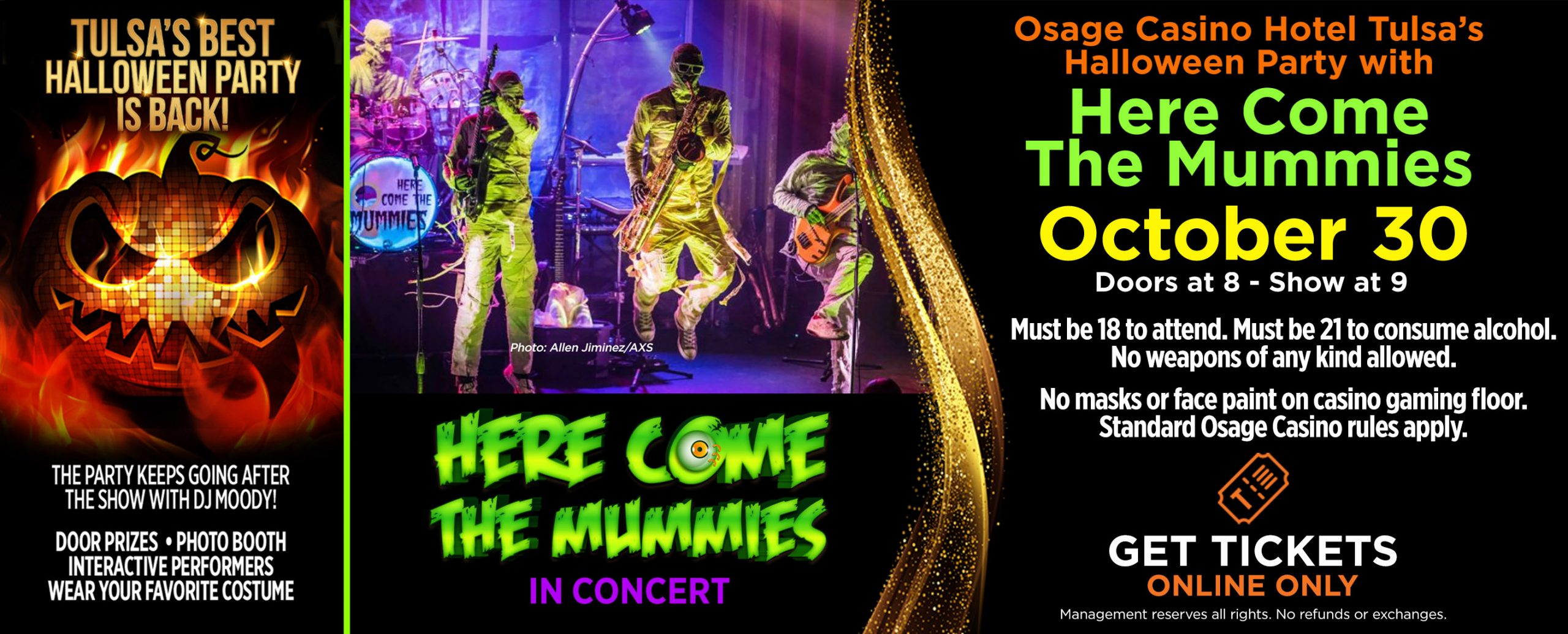 Here Come The Mummies | Doors open 7pm, Show starts 8pm