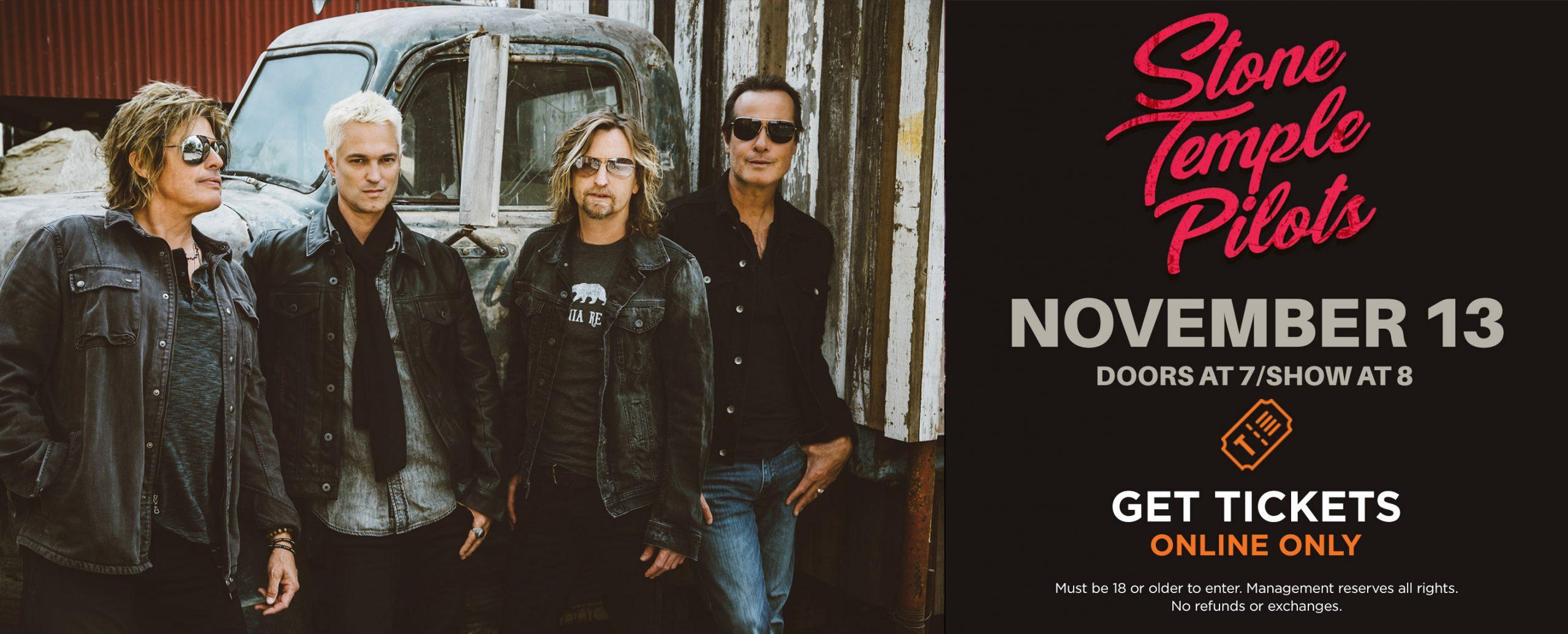 Stone Temple Pilots - Nov 13, 2021 | Doors open 7pm, Show starts 8pm